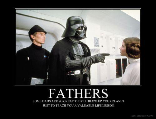 Favorite fictional dads : Darth Vader (Star Wars)