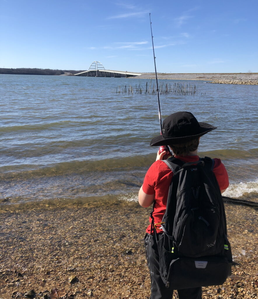 Keep our lands clean Fishing at Land Between the Lakes