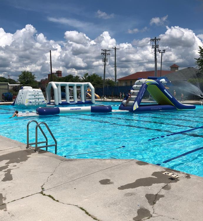 Warner Park Pool at Chattanooga TN Inflatables