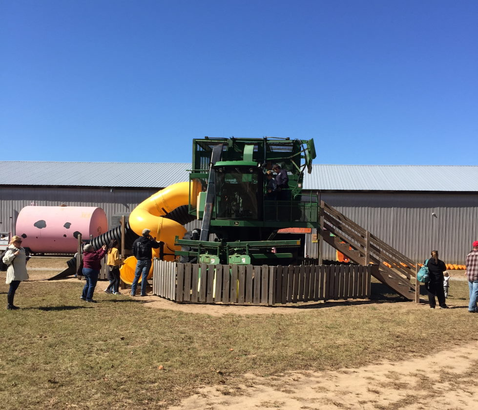 Beggs Family Farm combine with slide