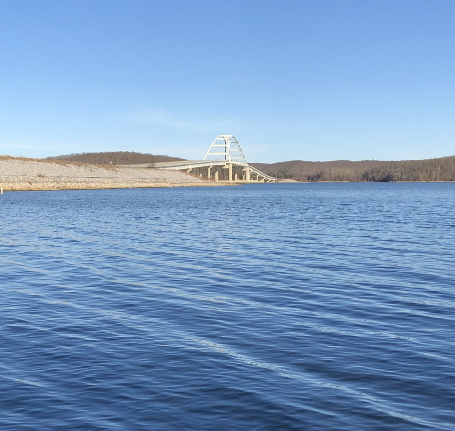 Take a kid fishing Bridge over Kentucky Lake