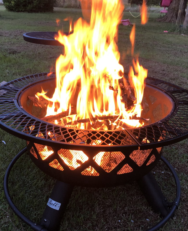 How to sleep better while camping Firepit with grill