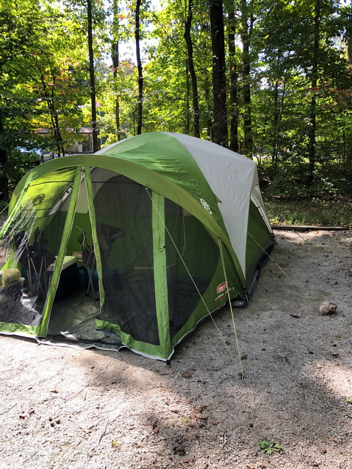 Camping at Mammoth Cave National Park - Tent