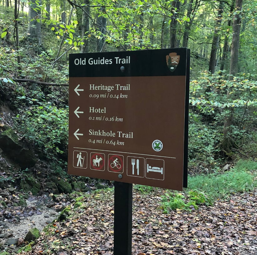 Mammoth Cave National Park Trails Heritage Trail Marker