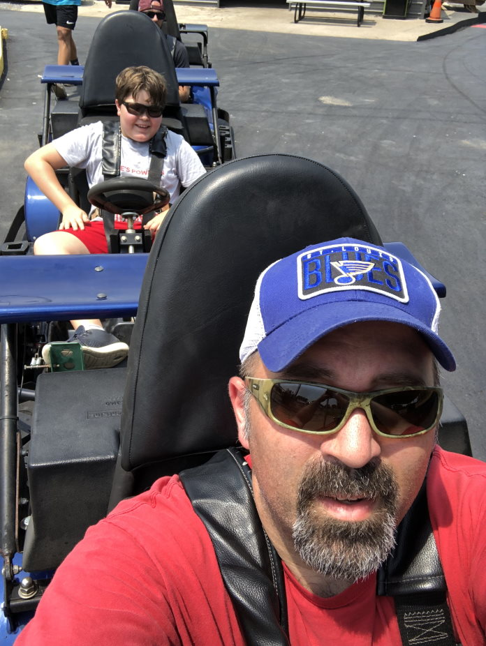 To be responsible be present with your kids On go karts